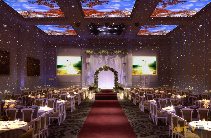 Thiết kế nhà hàng tiệc cưới bán cổ điển đẹp và sang trọng 11