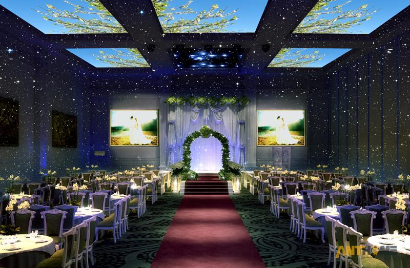 Thiết kế nhà hàng tiệc cưới bán cổ điển đẹp và sang trọng 12