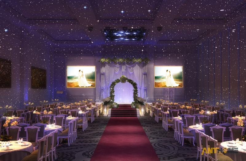 Thiết kế nhà hàng tiệc cưới bán cổ điển đẹp và sang trọng 8