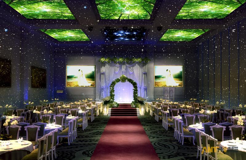 Thiết kế nhà hàng tiệc cưới bán cổ điển đẹp và sang trọng 9