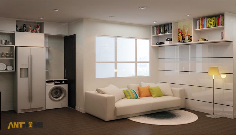 Thiết kế nội thất căn hộ An Phú Garden 1 phòng ngủ 1