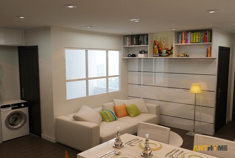 Thiết kế nội thất căn hộ An Phú Garden 1 phòng ngủ 2