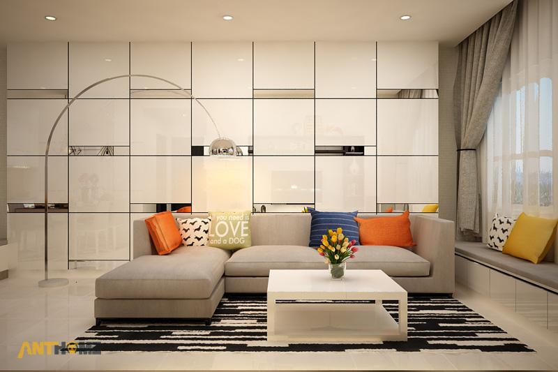 Thiết kế nội thất căn hộ Galaxy 9 2 phòng ngủ 1