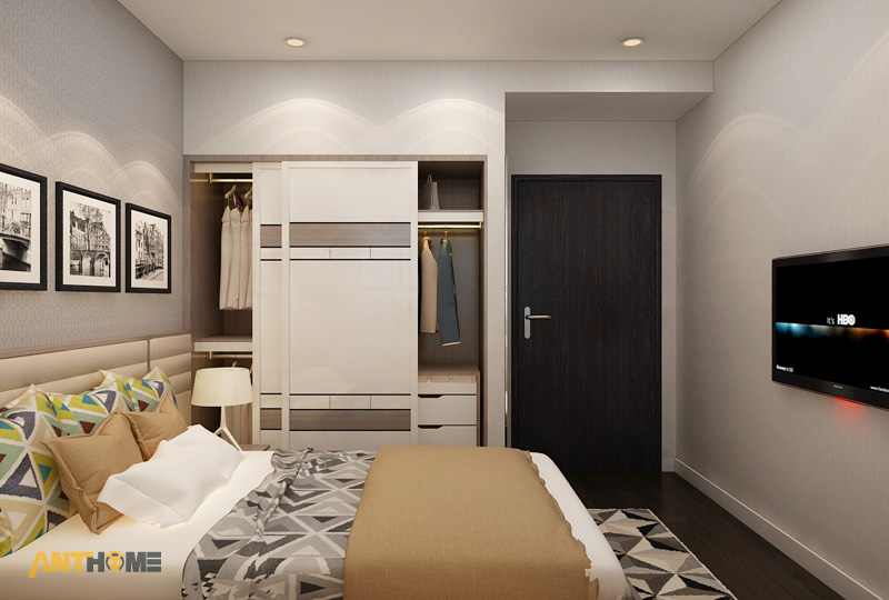 Thiết kế nội thất căn hộ Galaxy 9 2 phòng ngủ 10