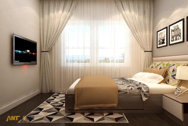 Thiết kế nội thất căn hộ Galaxy 9 2 phòng ngủ 11