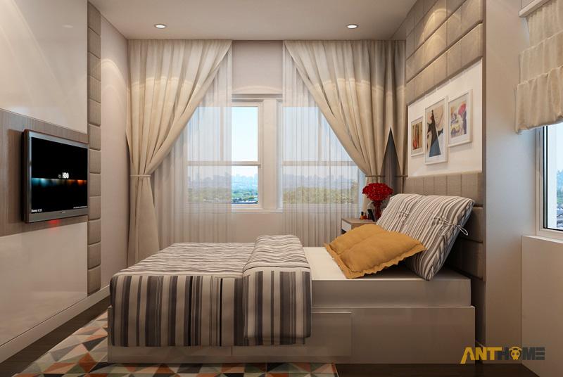 Thiết kế nội thất căn hộ Galaxy 9 2 phòng ngủ 12