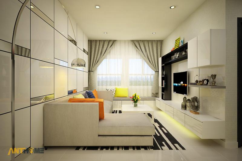 Thiết kế nội thất căn hộ Galaxy 9 2 phòng ngủ 2