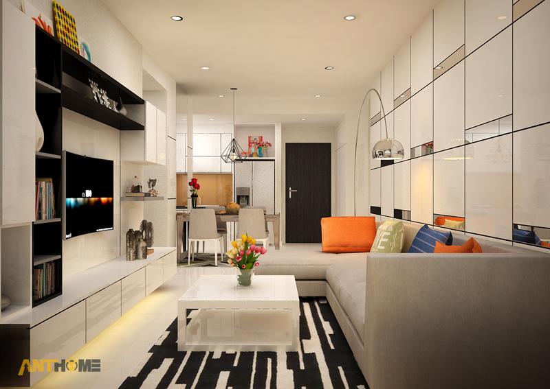 Thiết kế nội thất căn hộ Galaxy 9 2 phòng ngủ 4