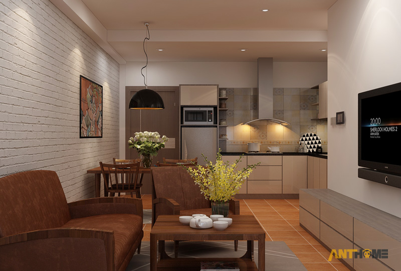 Thiết kế nội thất căn hộ ICON56 1 phòng ngủ 11