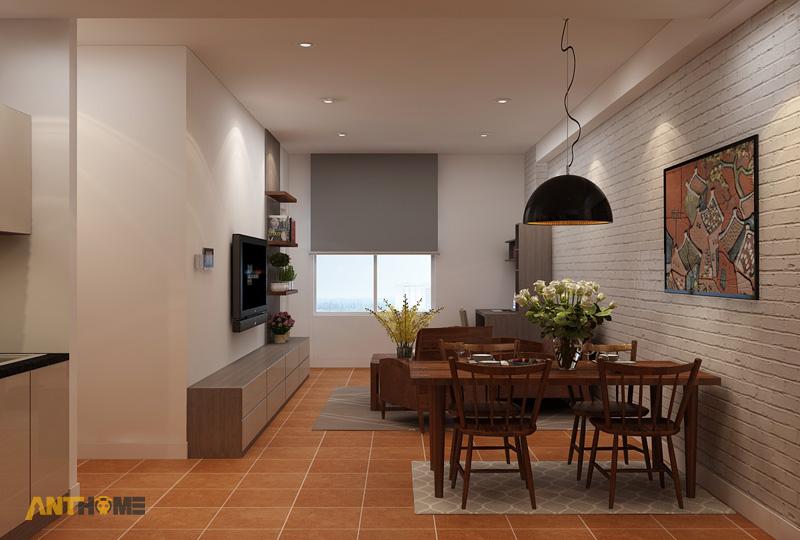 Thiết kế nội thất căn hộ ICON56 1 phòng ngủ 13