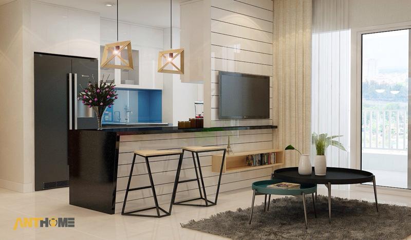 Thiết kế nội thất can hộ Lexington Residence 1 phòng ngủ 5