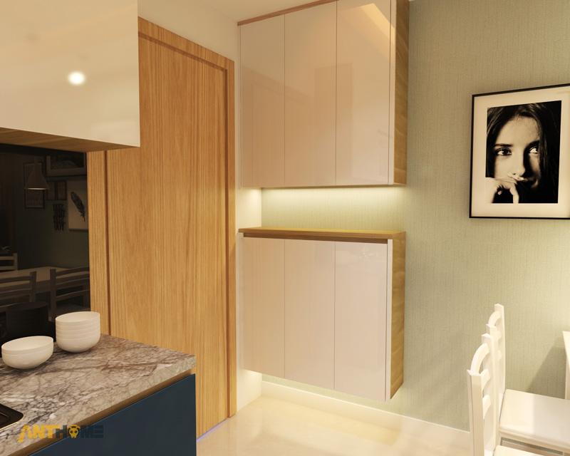 Thiết kế nội thất căn hộ M-One 2 phòng ngủ 1