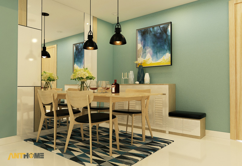 Thiết kế nội thất căn hộ Masteri Thảo Điền 2 phòng ngủ 4