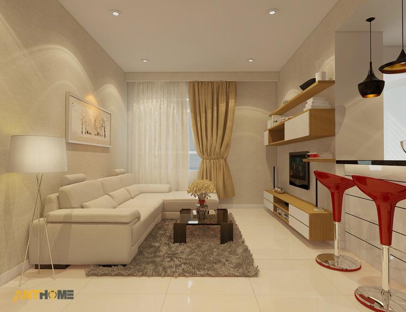 Thiết kế nội thất căn hộ Sunrise City 2 phòng ngủ 1