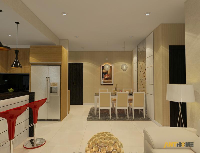 Thiết kế nội thất căn hộ Sunrise City 2 phòng ngủ 3