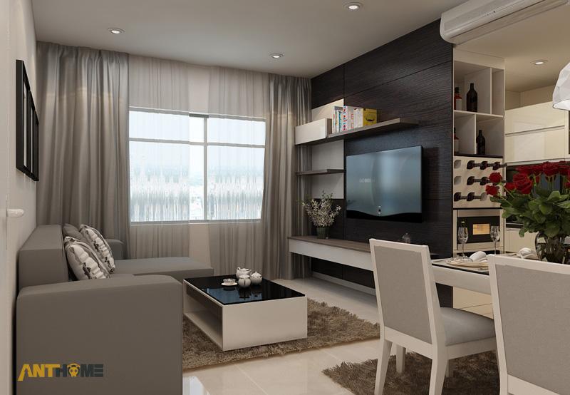 Thiết kế nội thất căn hộ Sunrise City 3 phòng ngủ 2