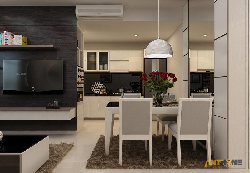 Thiết kế nội thất căn hộ Sunrise City 3 phòng ngủ 4
