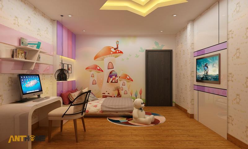 Thiết kế nội thất phòng ngủ con gái đẹp, hiện đại 2