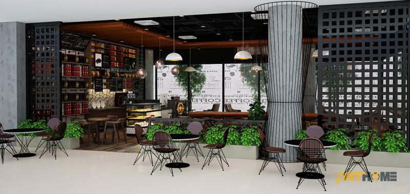 Thiết kế nội thất quán cafe B&B đẹp 1