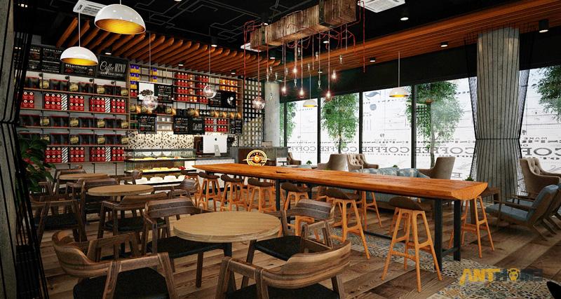 Thiết kế nội thất quán cafe B&B đẹp 2