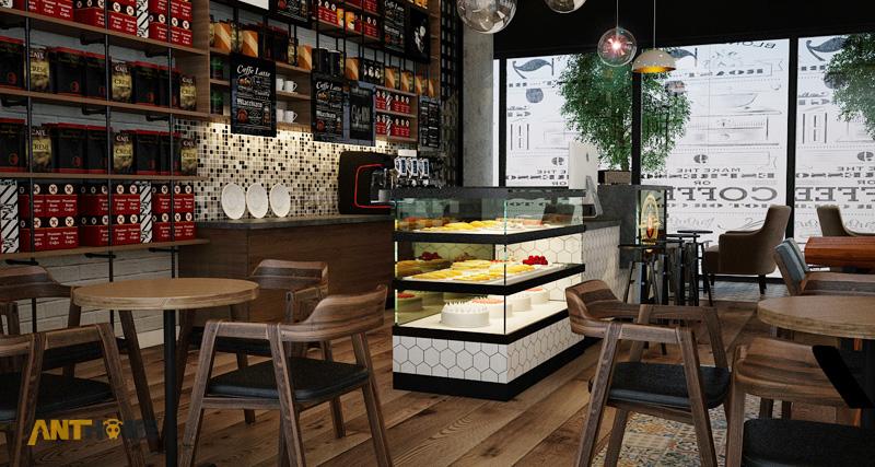 Thiết kế nội thất quán cafe B&B đẹp 3