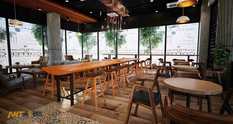 Thiết kế nội thất quán cafe B&B đẹp 4