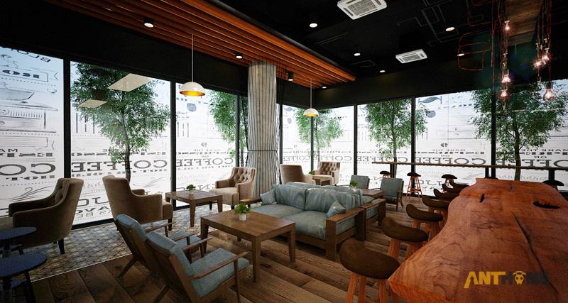 Thiết kế nội thất quán cafe B&B đẹp 5