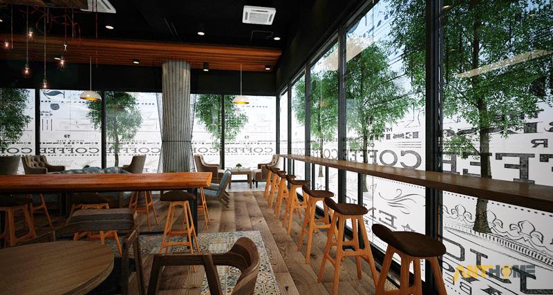 Thiết kế nội thất quán cafe B&B đẹp 6