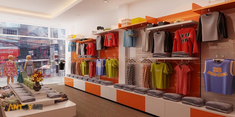 Thiết kế nội thất shop thời trang quần áo trẻ em đẹp 5