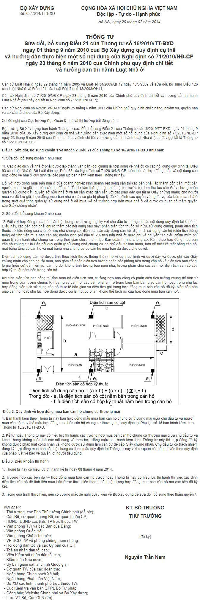 Tính diện tích căn hộ: Tim tường hay Thông thuỷ 3