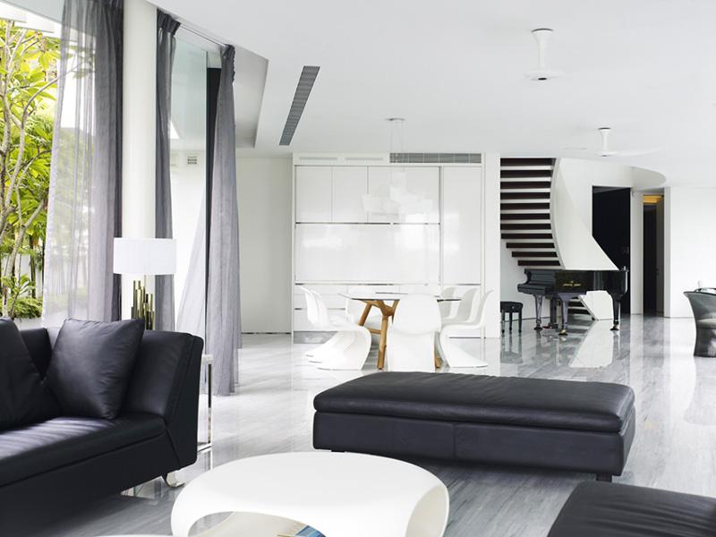 Sự sang trọng của màu đen trong thiết kế nội thất 7