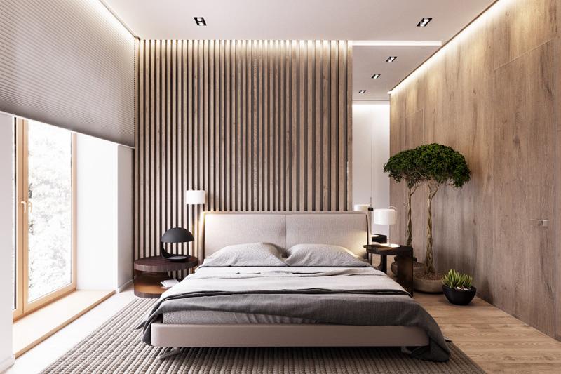 Mãn nhãn với 3 cách thiết kế nội thất phòng ngủ lấy cảm hứng từ gỗ 4