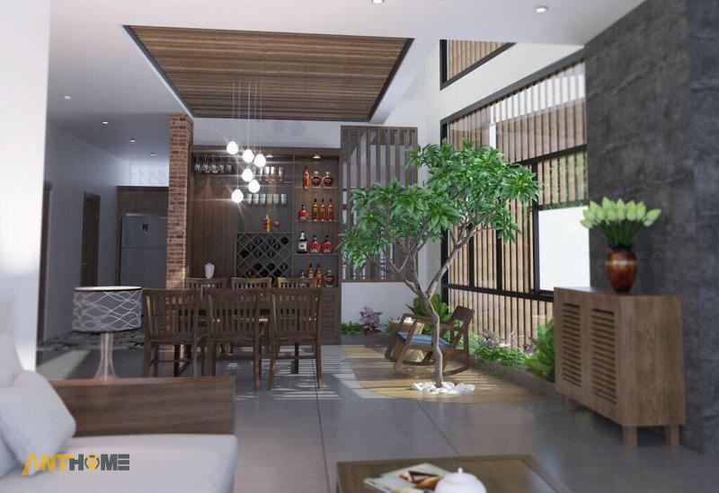 Thiết kế nội thất nhà phố đẹp Đà Lạt 100m2 2