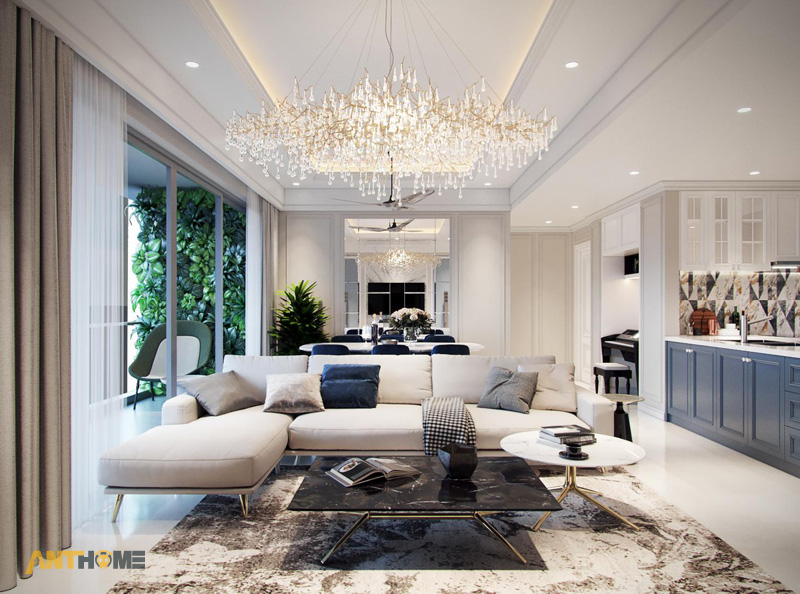 Thiết kế nội thất phòng khách đẹp, sang trọng tại TP.HCM 1