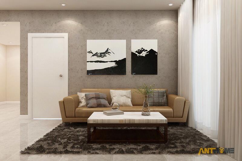 Thiết kế nội thất phòng khách đẹp, sang trọng tại TP.HCM 4